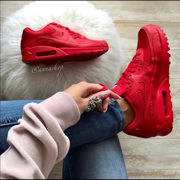 NWT Nike ID Air Max 90 Triple Red NWT